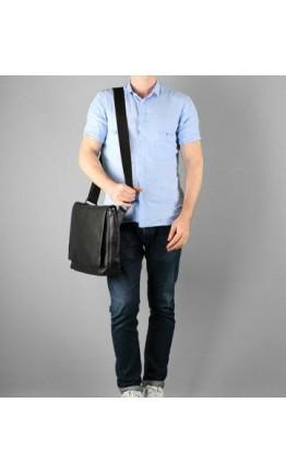 Черная сумка на плечо больше формата А4 Blamont bn030a
