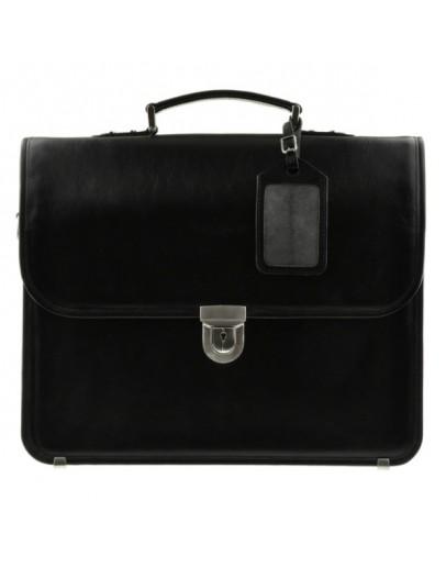 Фотография Чёрный классический кожаный портфель Blamont bn037A
