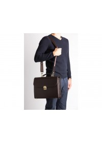 Классический модный кожаный коричневый портфель Blamont Bn039C