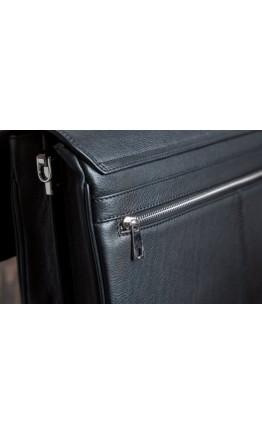 Чёрный кожаный мужской деловой портфель Blamont Bn044A
