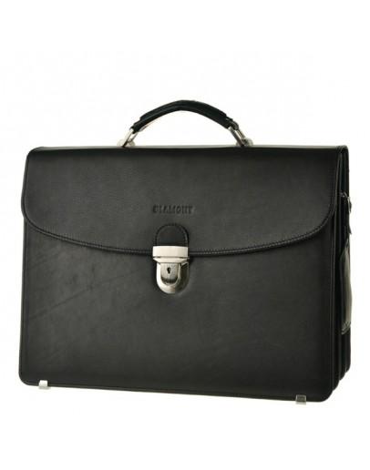 Фотография Практичный чёрный мужской кожаный портфель Blamont Bn053A