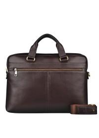 Прочный мужской кожаный коричневый портфель Blamont Bn066C