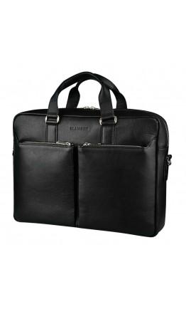 Качественный мужской кожаный чёрный портфель Blamont Bn067A