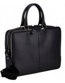 Фотография Чёрный портфель кожаный мужской Blamont Bn069a