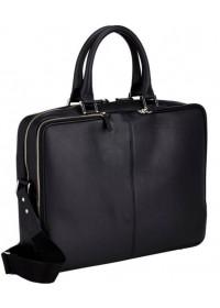 Чёрный портфель кожаный мужской Blamont Bn069a
