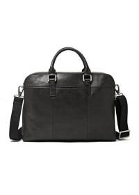 Мужская удобная чёрная кожаная сумка - портфель Blamont Bn071A