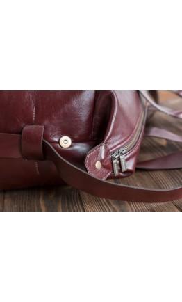 Мужская дорожная кожаная красно-коричневая сумка Bn072R