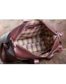 Фотография Мужская дорожная кожаная красно-коричневая сумка Bn072R