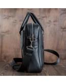 Фотография Чёрная мужская кожаная сумка - портфель Blamont Bn079a