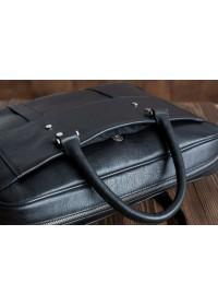 Чёрная мужская кожаная сумка - портфель Blamont Bn079a