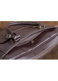 Коричневая мужская кожаная сумка - портфель Blamont Bn079c