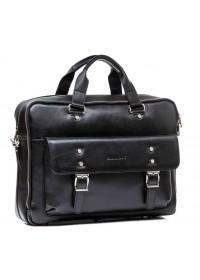 Модная удобная черная кожаная сумка Blamont Bn080a