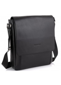 Черная кожаная сумка формата А4 Blamont Bn082A-11