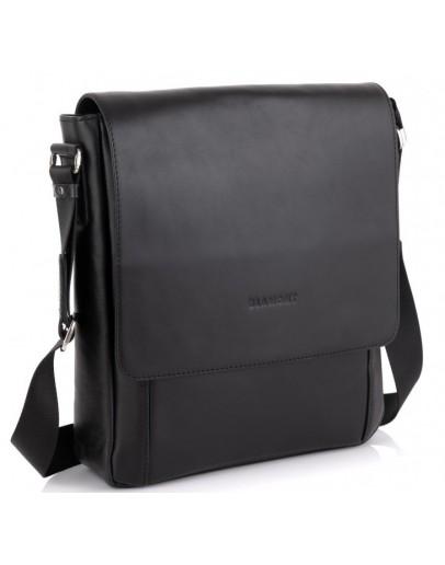 Фотография Черная кожаная сумка формата А4 Blamont Bn082A-11