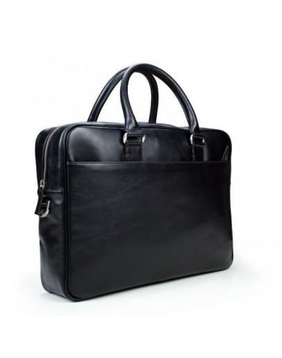 Фотография Кожаная чёрная мужская деловая сумка Blamont Bn106 ai