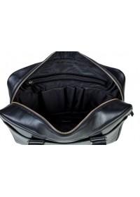 Кожаная чёрная мужская деловая сумка Blamont Bn106 ai