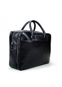 Кожаная мужская чёрная сумка на два отделения Blamont Bn107 ai