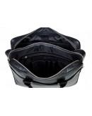 Фотография Кожаная мужская чёрная сумка на два отделения Blamont Bn107 ai