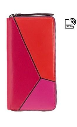 Женский кожаный кошелек большой Visconti BRC98 Julia (Berry Kiss)
