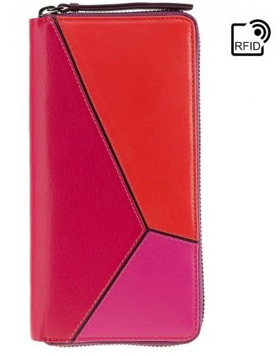 Фотография Женский кожаный кошелек большой Visconti BRC98 Julia (Berry Kiss)