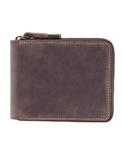 Фотография Кожаное мужское коричневое портмоне Visconti 7021 - Bullet (oil brown)