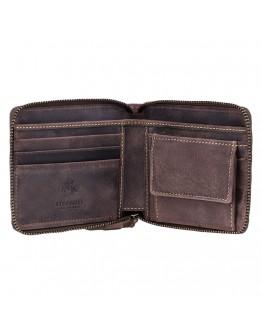 Кожаное мужское коричневое портмоне Visconti 7021 - Bullet (oil brown)
