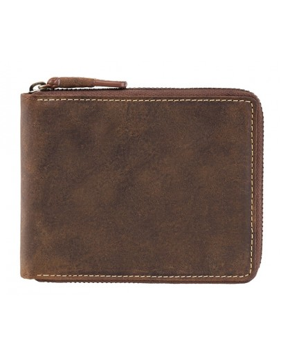Фотография Кожаное портмоне песочного цвета Visconti 7021 - Bullet (oil tan)
