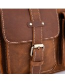 Фотография Коричневая мужская кожаная сумка на плечо Bx1050RR