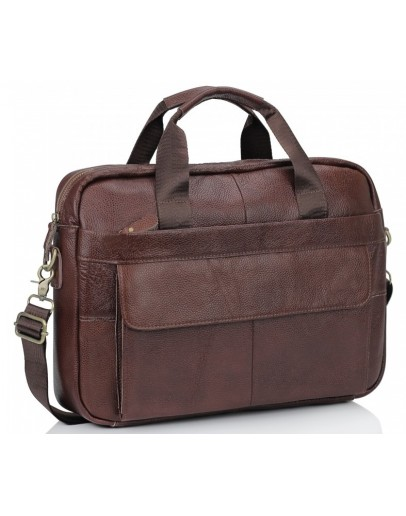 Фотография Коричневая сумка из натуральной телячьей кожи Bx1131C