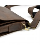 Фотография Коричневая винтажная кожаная сумка на плечо Tarwa bx3027-2c