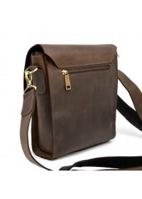 Коричневая винтажная кожаная сумка на плечо Tarwa bx3027-2c