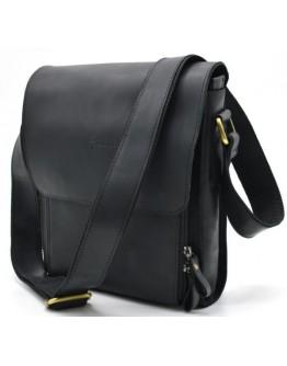 Черная сумка на плечо мужская кожаная Tarwa bx3027-2kr