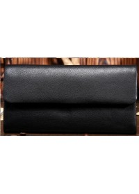 Клатч мужской, черный кожаный bx3454