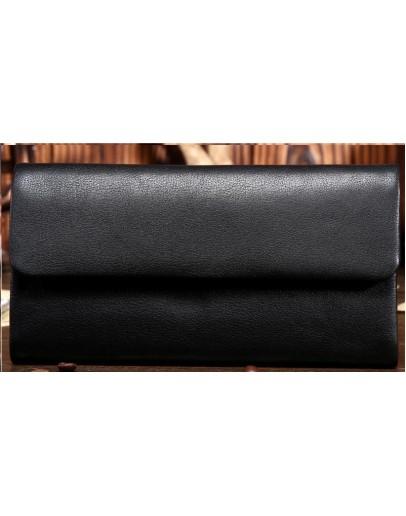 Фотография Клатч мужской, черный кожаный bx3454