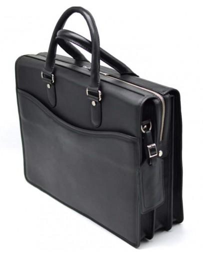 Фотография Деловая мужская кожаная сумка - портфель черного цвета Tarwa bx4364-4lx