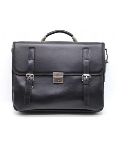 Фотография Мужской черный кожаный вместительный портфель bx4464-4lx