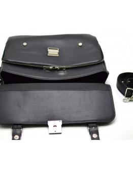 Мужской черный кожаный вместительный портфель bx4464-4lx