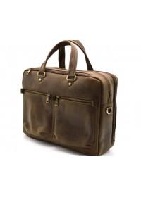 Кожаная деловая мужская коричневая сумка bx4664-3md