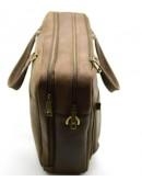 Фотография Кожаная деловая мужская коричневая сумка bx4664-3md