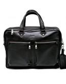 Фотография Черная сумка кожаная для ноутбука и документов bx4664-4ax