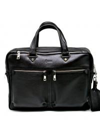 Черная сумка кожаная для ноутбука и документов bx4664-4ax