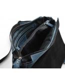 Фотография Вместительный синий кожаный мессенджер на плечо bx6002-7b