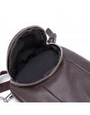Фотография Мужская коричневая небольшая сумка на пояс и на плечо bx6086