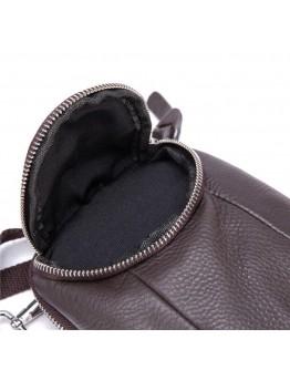 Мужская коричневая небольшая сумка на пояс и на плечо bx6086