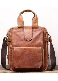 Кожаная коричневая винтажная деловая сумка Vintage BX8178C