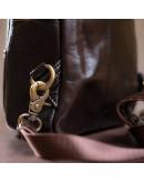 Фотография Коричневый кожаный мужской слинг - мессенджер Bx8210B