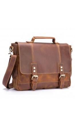 Кожаный мужской коричневый портфель bx8321