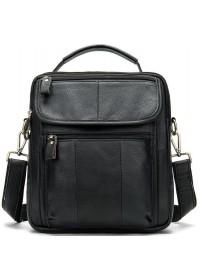 Черная сумка на каждый день из натуральной кожи Bx8870A