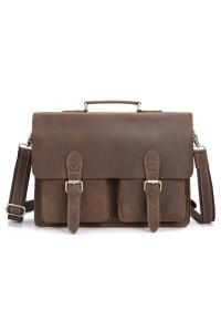 Портфель мужской кожаный, песочный цвет bx9356