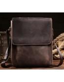 Фотография Коричневая сумка мужская на плечо, плотная кожа bx9382